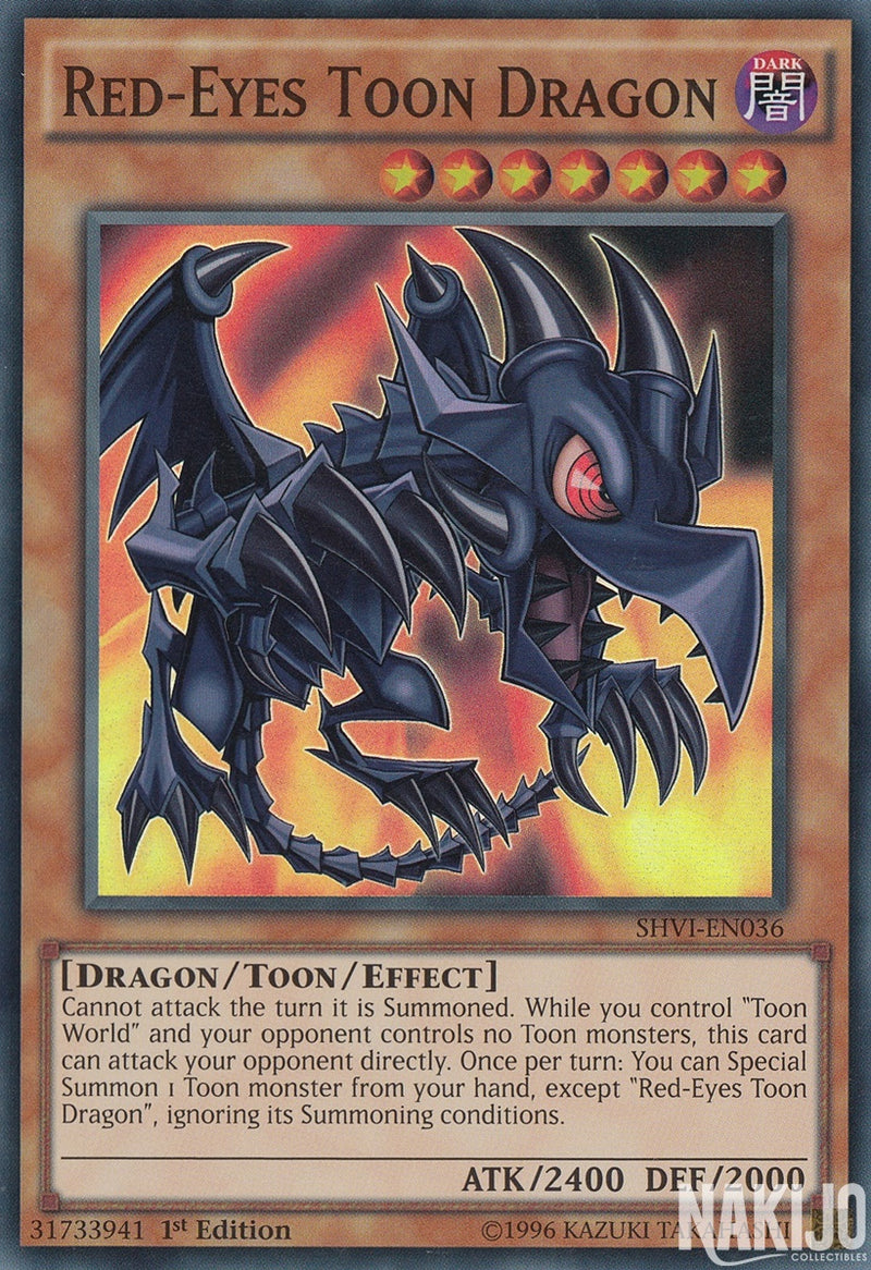 Red-Eyes Toon Dragon - SHVI-EN036 - Super Rare - 1st Edition