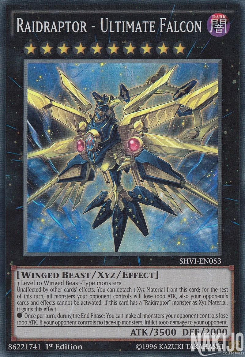 Raidraptor - Ultimate Falcon - SHVI-EN053 - Super Rare - 1st Edition