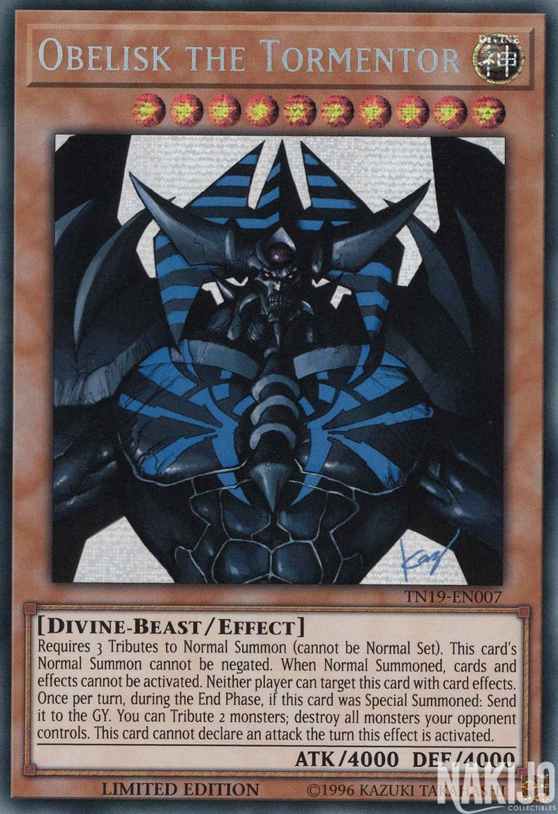 Obelisk the Tormentor - TN19-EN007 - Prismatic Secret Rare - Limited Edition