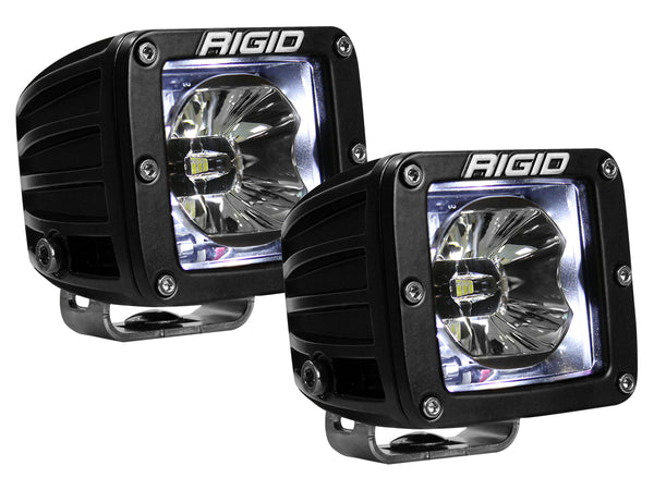 Rigid Radiance 20200 Pod LED Light Pair - White Illuminate Background Light - Van Kam Truck & Trailer
