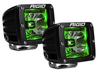 Rigid Radiance 20203 Pod LED Light Pair - Green Illuminate Background Light - Van Kam Truck & Trailer