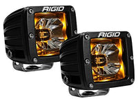 Rigid Radiance 20204 Pod LED Light Pair - Amber Illuminate Background Light - Van Kam Truck & Trailer