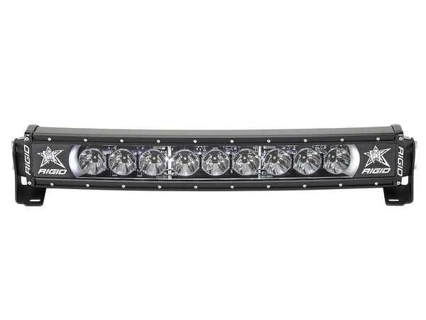 "Rigid Industries Radiance Curved 20"" Light Bar 32000 White-Black Light - Van Kam Truck & Trailer"