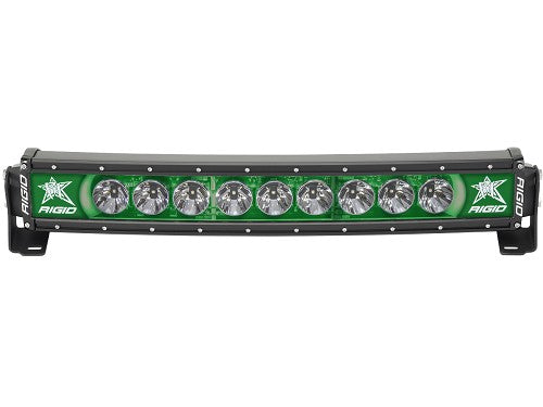 "Rigid Industries Radiance Curved 30"" Light Bar 33003 Green-Black Bar - Van Kam Truck & Trailer"