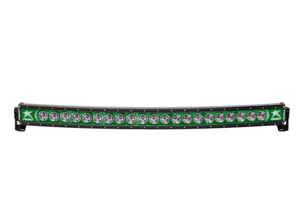 "Rigid Industries Radiance Curved 40"" Light Bar 34003 Green-Black Light - Van Kam Truck & Trailer"
