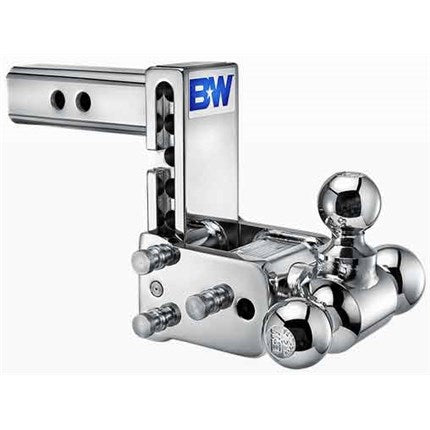 Tow and stow, tri ball hitch, chrome hitch, B&W