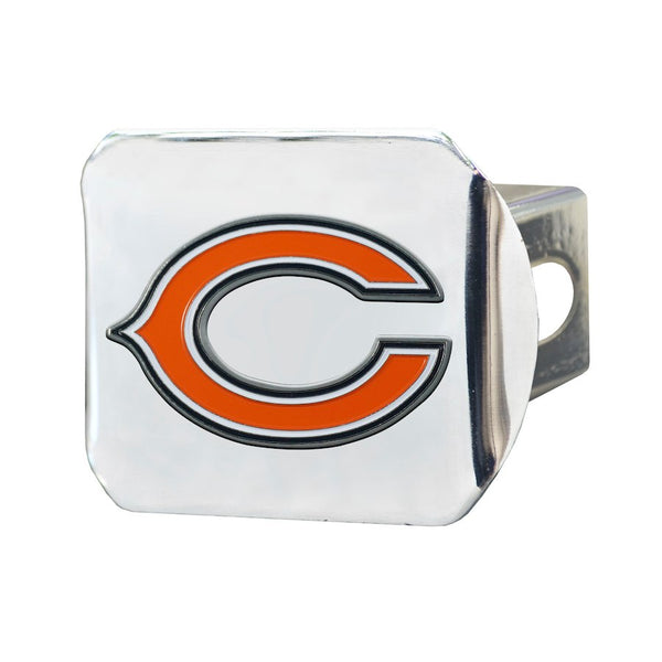 "Chicago Bears Heavy Duty 3-D Color Emblem Chrome Metal Hitch Cover 2"" - Van Kam Truck & Trailer"