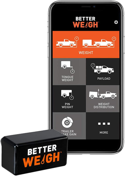 BetterWeigh Mobile Towing Scale with TowSense Technology by Curt