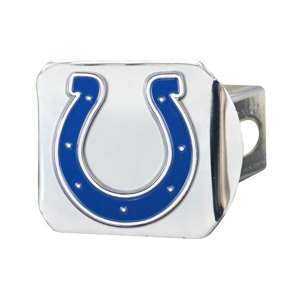 "Indianapolis Colts Heavy Duty 3-D Color Emblem Chrome Metal Hitch Cover 2"" - Van Kam Truck & Trailer"