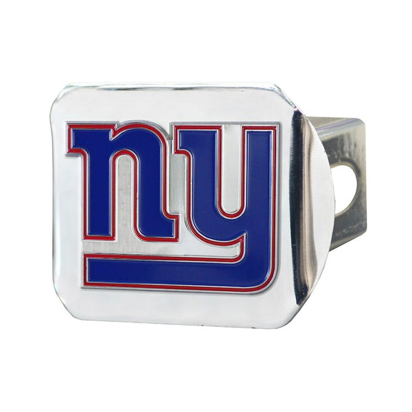 "New York Giants Heavy Duty 3-D Color Emblem chrome Metal Hitch Cover 2"" - Van Kam Truck & Trailer"