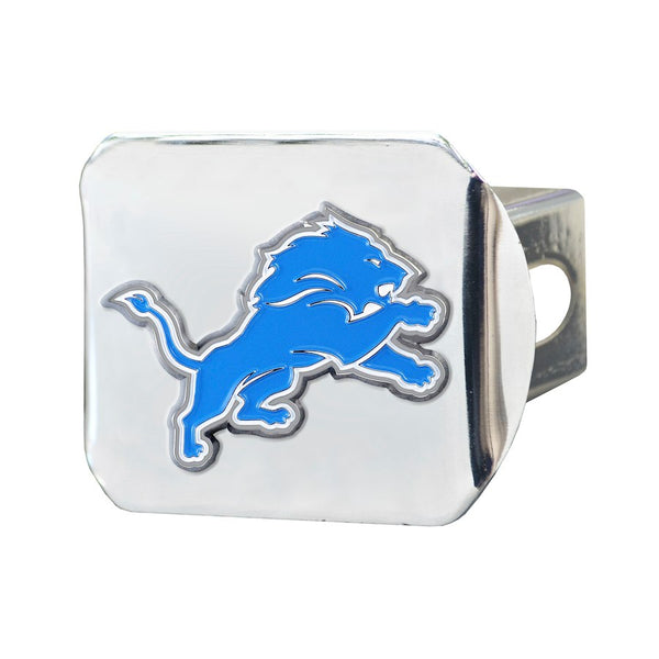"Detroit Lions Heavy Duty 3-D Color Emblem Chrome Metal Hitch Cover 2"" - Van Kam Truck & Trailer"