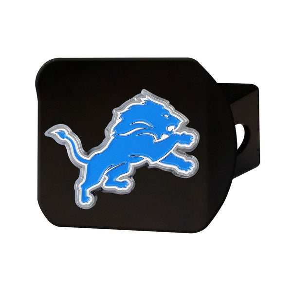 "Detroit Lions Heavy Duty 3-D Color Emblem Black Metal Hitch Cover 2"" - Van Kam Truck & Trailer"