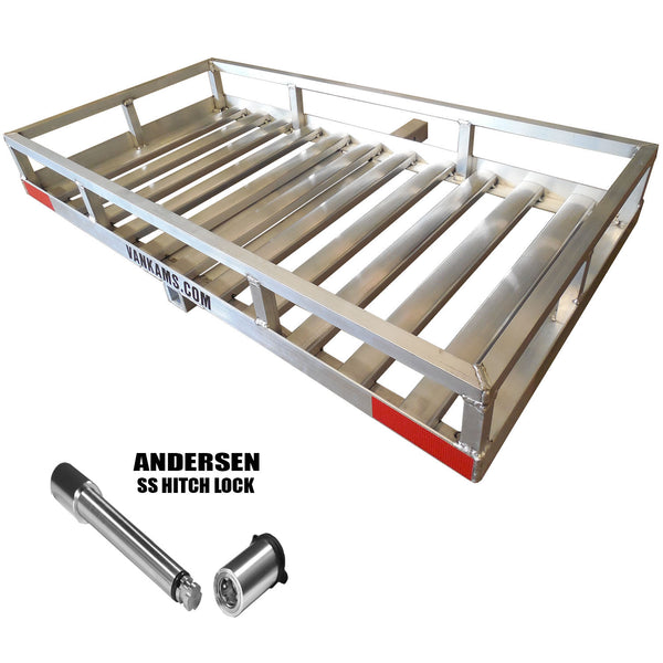 Northbound Aluminum Cargo Carrier 24 X 49 HD w/ Stainless Hitch Locking Pin - Van Kam Truck & Trailer