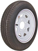 Tire & Wheel, 530-12 C/5H Spoke White W/Stripes