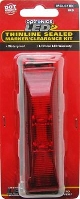 "Clearance Light Kit, 1-1/4""x4-1/8"" Red LED"