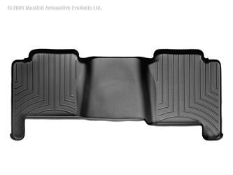 Weathertech Floor Liner Rear Black- 19+ GMC / Chevy Crew Cab with bench seats