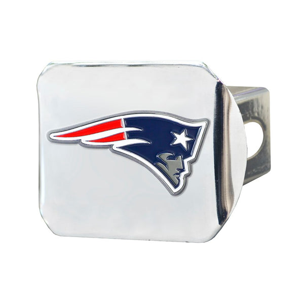 "New England Patriots Heavy Duty 3-D Color Emblem Chrome Metal Hitch Cover 2"" - Van Kam Truck & Trailer"