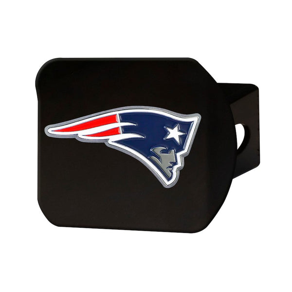 "New England Patriots Heavy Duty 3-D Color Emblem Black Metal Hitch Cover 2"" - Van Kam Truck & Trailer"