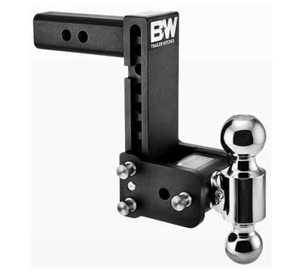 "B&W Tow & Stow , 7"" Adjustable Dual-Ball Ball Mount for 2-1/2"" Receivers"