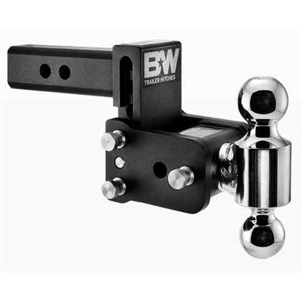 "B&W Tow & Stow TS10037B 5"" Adjustable Dual-Ball Ball Mount for 2"" Receivers"