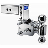 "B&W Tow & Stow TS20037C 5"" Chrome Adjustable Dual-Ball Ball Mount for 2-1/2"" Receivers"