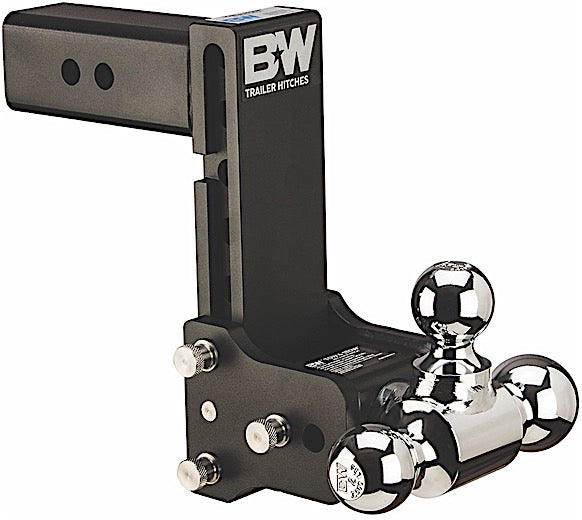 "B&W Tow & Stow , 7"" Adjustable Tri-Ball Ball Mount for 2-1/2"" Receivers"