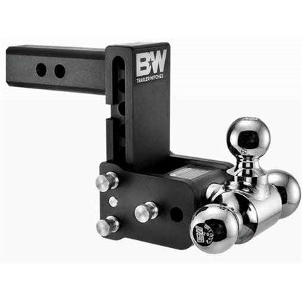 "B&W Tow & Stow , 5"" Adjustable Tri-Ball Ball Mount for 2-1/2"" Receivers"