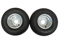 18.5 X 8.5 - 8 (215/60-8) GALVANIZED Snowmobile trailer tire & wheel (1 PAIR)- TRITON, R&R - Van Kam Truck & Trailer