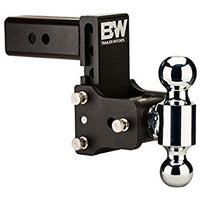 "B&W Tow & Stow TS30040B- 7"" Drop / 7-1/2"" Rise Blk Dual Ball Mount for 3"" Receivers - Van Kam Truck & Trailer"