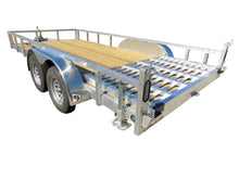 Load image into Gallery viewer, 6.5 X 16 Tandem Aluminum Utility Trailer w/ 3-side rail & Ramp - Van Kam Truck & Trailer
