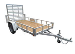 5 X 10 Aluminum Utility Trailer w/ 3-Side Tube Rail & 4' Ramp Gate - Van Kam Truck & Trailer