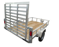 "5 X 8'4""Aluminum Utility Trailer w/ 3-Side Tube Rail & 4' Removable Rear Gate - Van Kam Truck & Trailer"
