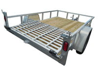 6.5 X 12 Aluminum Utility Trailer SA w/ 3-side rail & 4' Ramp Gate - Van Kam Truck & Trailer