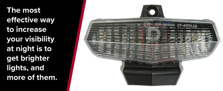 increase motorcycle visibility with brighter lights