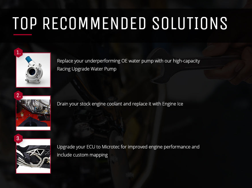 Solutions for overheating MV Agustas