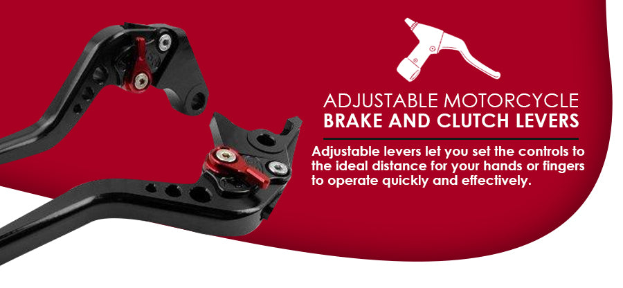 Adjustable motorcycle brake and clutch levers