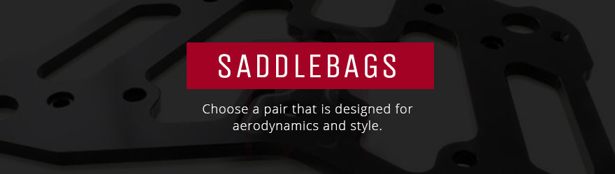 Motorcycle saddlebags and racks