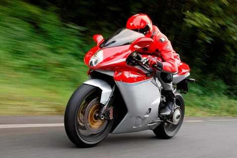 MV Agusta F4 model on road