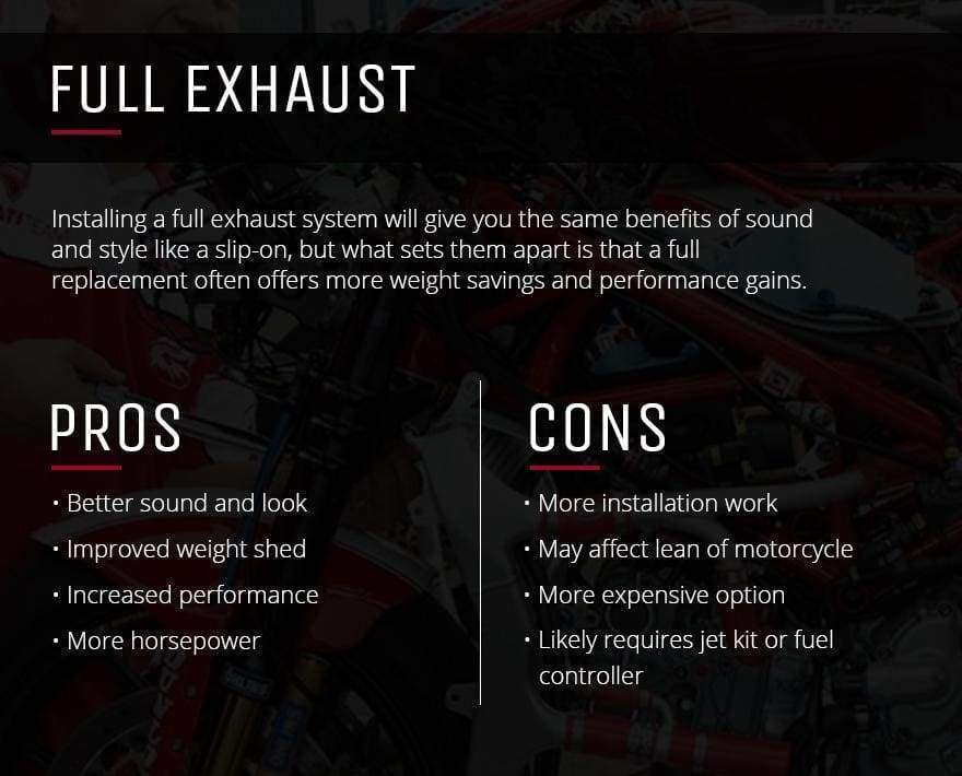 Aftermarket Motorcycle Slip-On Exhausts vs  Full Exhaust Systems