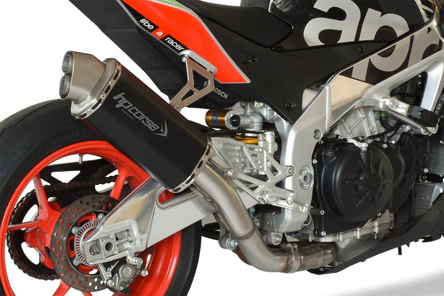 Aprilia Tuono V4 4-Track Short Black Exhaust
