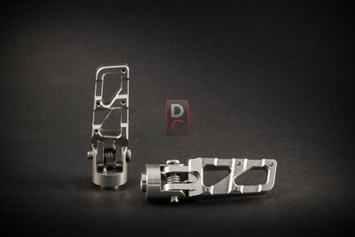 AEM Factory Universal Folding Billet Footpegs-Footpegs & Toe Pegs-DESIGN CORSE