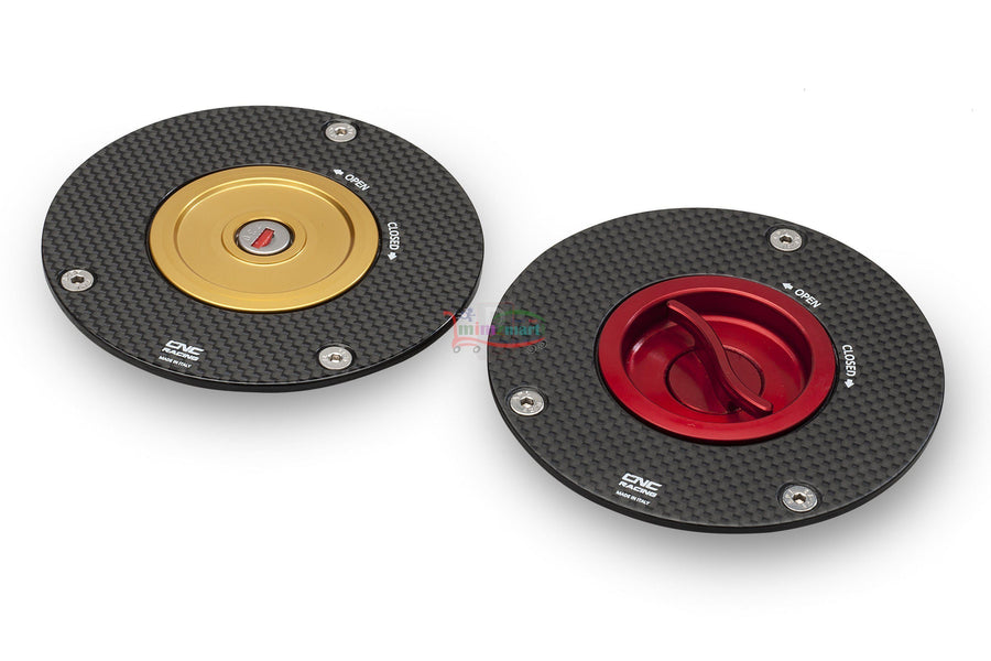 Aprilia / Ducati / MV Agusta Carbon Fibre Fuel Cap Kits-Fuel Filler Caps-DESIGN CORSE