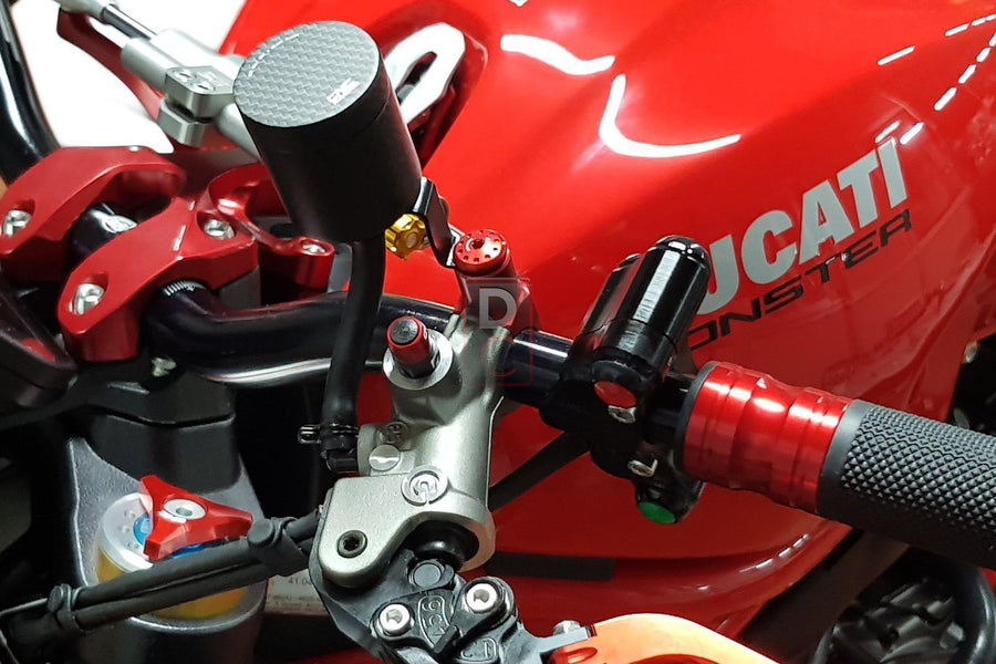 CNC Racing Handlebar Mirror Mount Blanking M8 Screw Plugs Kit-Mirrors & Accessories-DESIGN CORSE