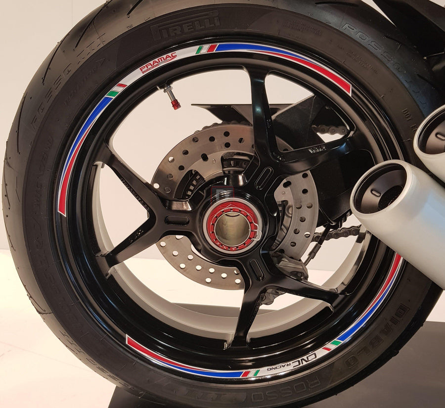 "CNC Racing Wheel Rim Tape 17"" Pramac Limited Edition Stripes Kit-Decals, Stickers & Apparels-DESIGN CORSE"