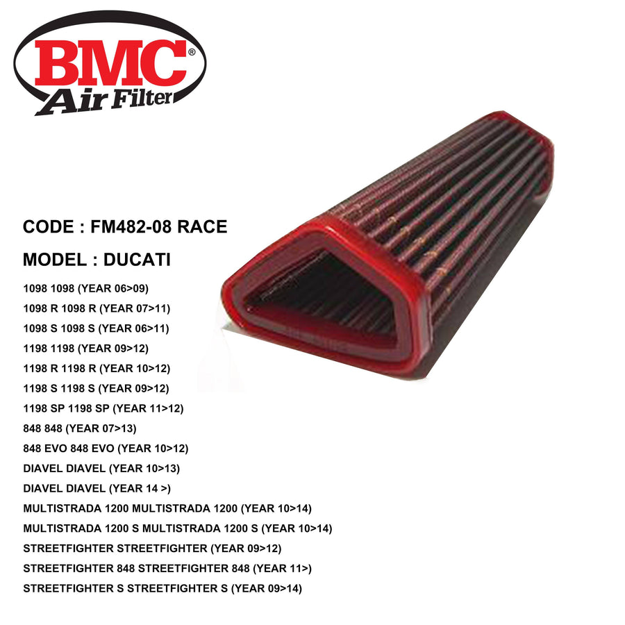 Ducati 1098 SBK / Diavel 1200 BMC Performance Air Filter