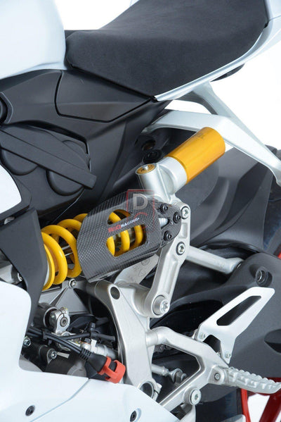 Ducati 1199 1299 Carbon Shock Cover R&G-Frame & Engine Sliders-DESIGN CORSE