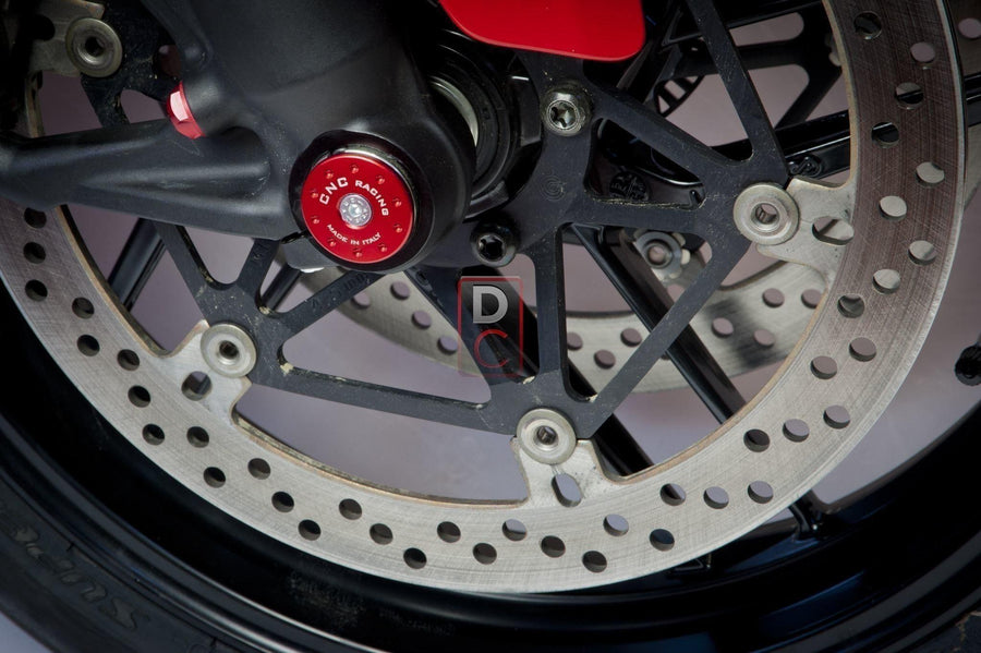 Ducati 1299 / Monster 821 Front Wheel Axle Caps CNC Racing-Wheel Axle Sliders-DESIGN CORSE
