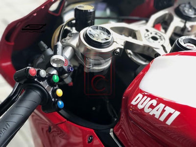 Ducati 1299 Panigale Left Handlebar Switch 'Race' Use-Handlebar Grips & Quick Throttles-DESIGN CORSE
