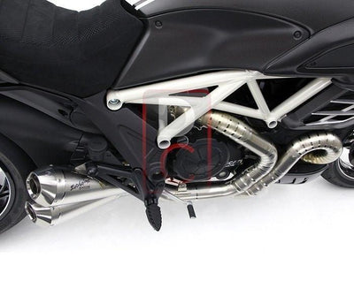 Ducati Diavel 1200 Exhaust Titanium Full System Grosso Due-Exhaust Systems-DESIGN CORSE