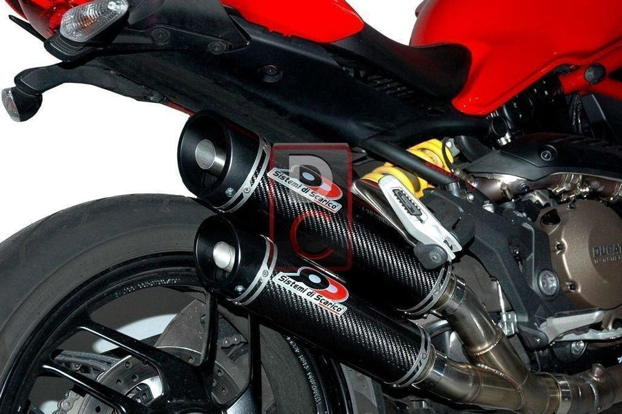 Ducati Monster 1200 QD Exhaust Dual Magnum Kit-Exhaust Systems-DESIGN CORSE
